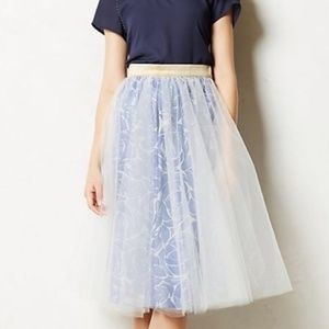 Anthropologie Alexandra Grecco Tulle Skirt